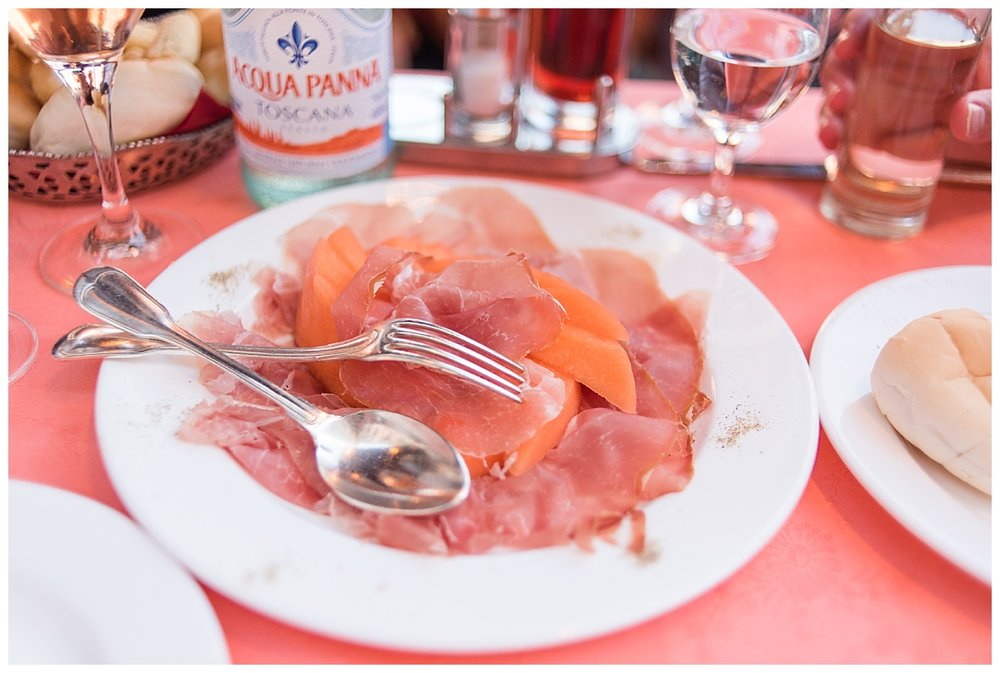 The most interesting and amazing thing to eat - Prosciutto & Melon. So good!
