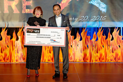 Kay Bradley, Executive Director of GMCC and Dr. Parthiv Sheth, President of AAPI