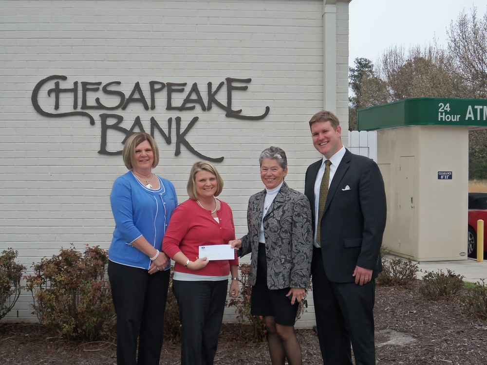 Dianne Hall, Senior Vice President/ Retail Middle Peninsula Regional Executive at Chesapeake Bank; Melissa Crawford, Vice President Business Development Manager at Chesapeake Bank; Nancy Dykeman, GMCC Board of Directors; Adam Taylor, GMCC Board of Directors