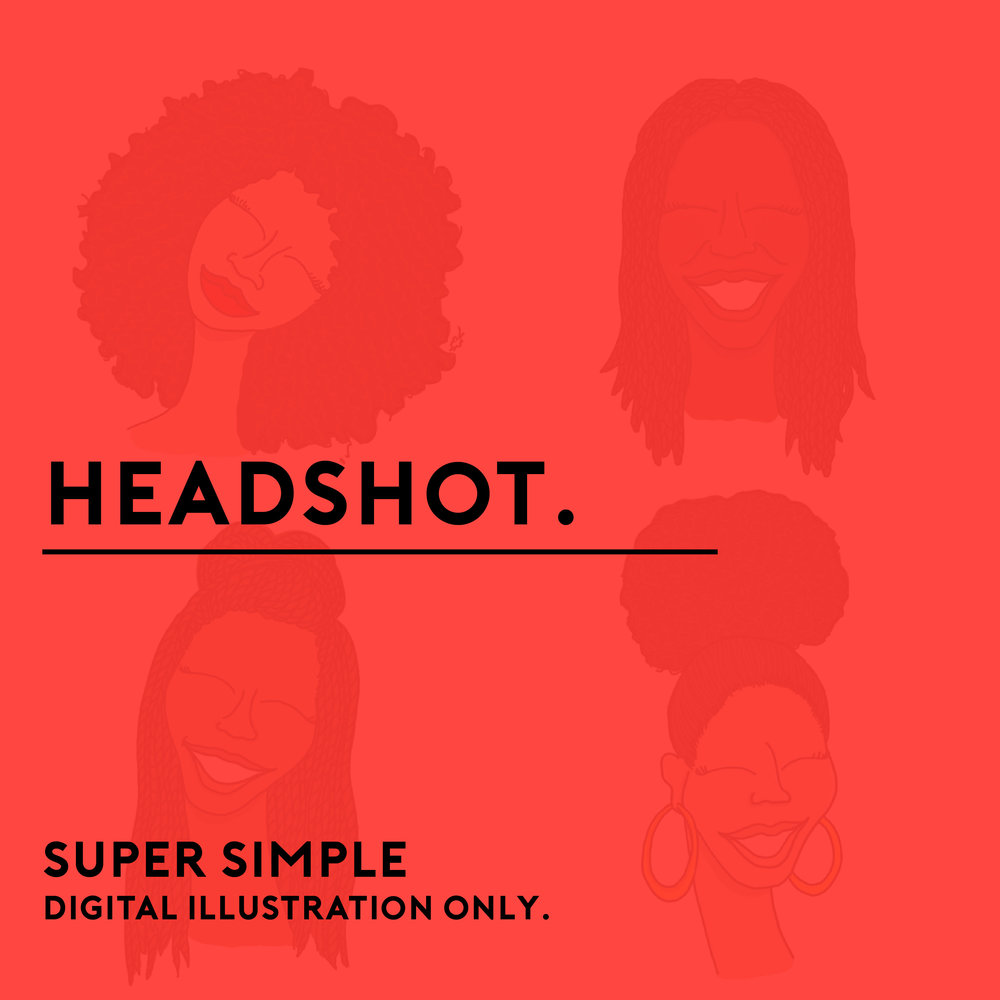 Looking for something super simple? This package is perfect for avatars, social media graphics, personal brands and more! Illustration is from the shoulders up.