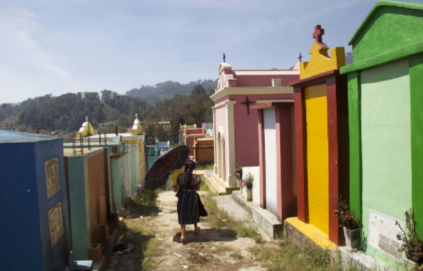 Visitors at a cemetery in Chichicastenango, Guatemala.