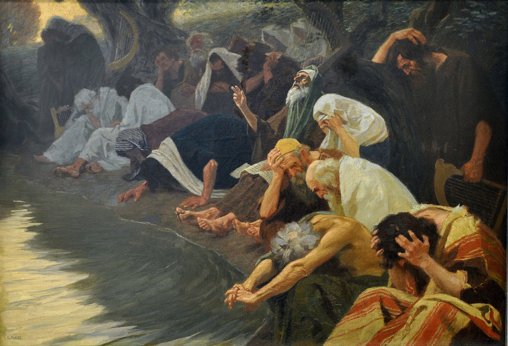 By the Rivers of Babylon (c. 1920), by Gebhard Fugel (1863-1939) [public domain/Wikipedia Commons]