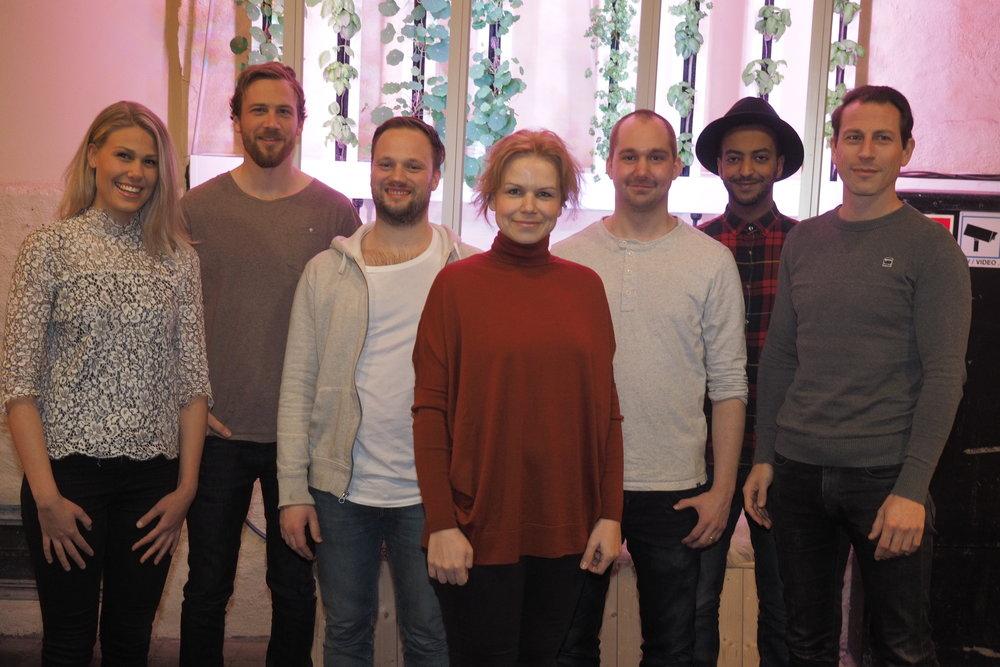 Team photo // 19.02.2017  Silje Andersen, Christian Drabløs, Jonathan Viklander, Olga Popovic, Johan Bøgeberg, Jonas Tesfu, Dirk-Jan van Lubek  Photographer:  Christoffer Krook