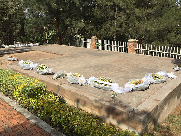 Mass graves at the Genocide Memorial in Kigali holding about 250,000 of the more than 1,000,000 people killed during the Genocide against the Tutsi in 1994.