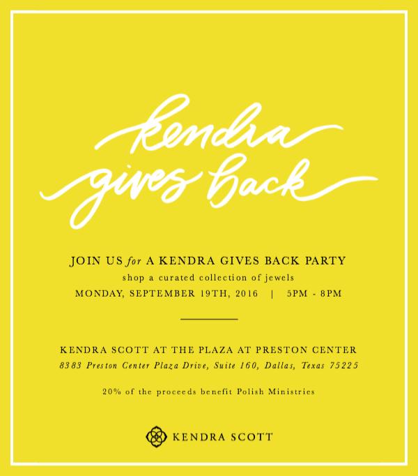 Kendra Scott Giveback