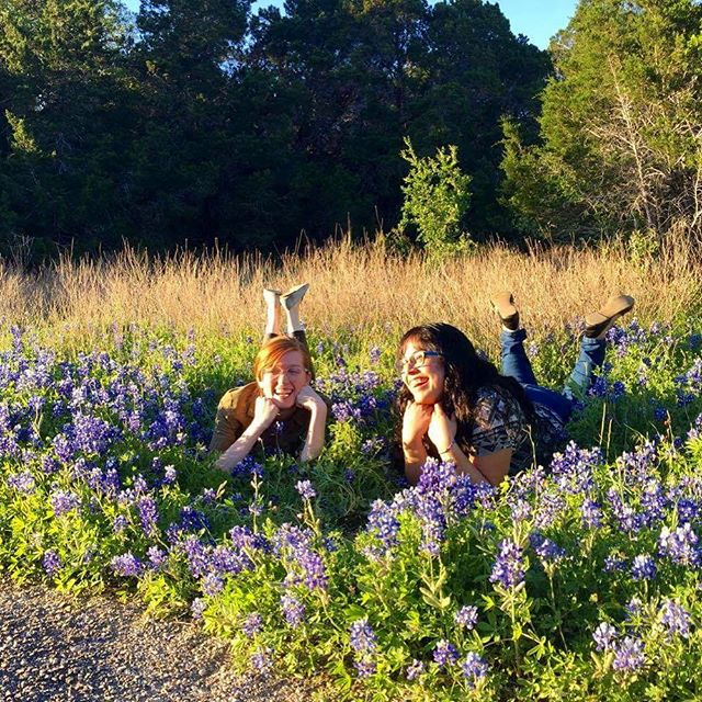 How #yesmaamzine spends our #freetime #bluebonnets #atx
