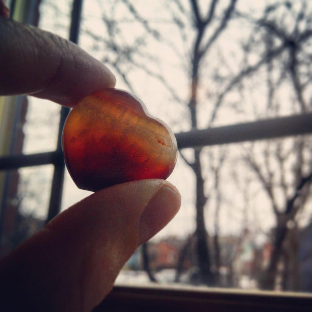 a carnelian heart