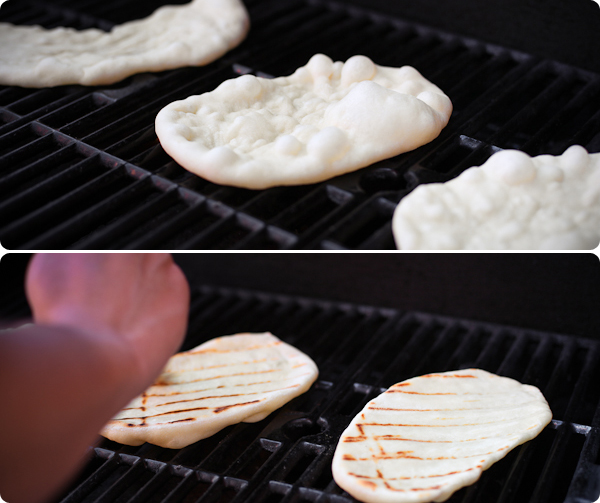Grilling Naan