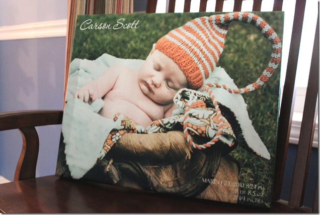 "16""x20"" photo canvas"