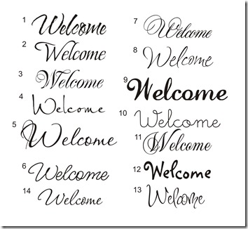E-1 Welcome fonts