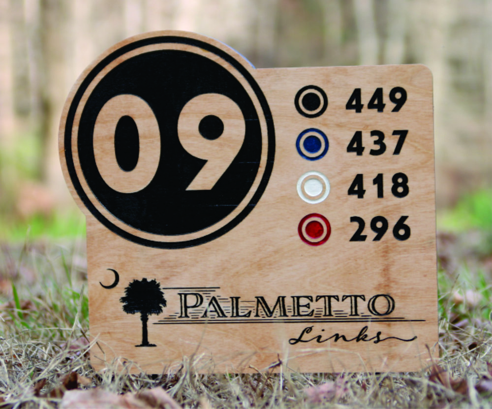 Hole number with yardages - $89