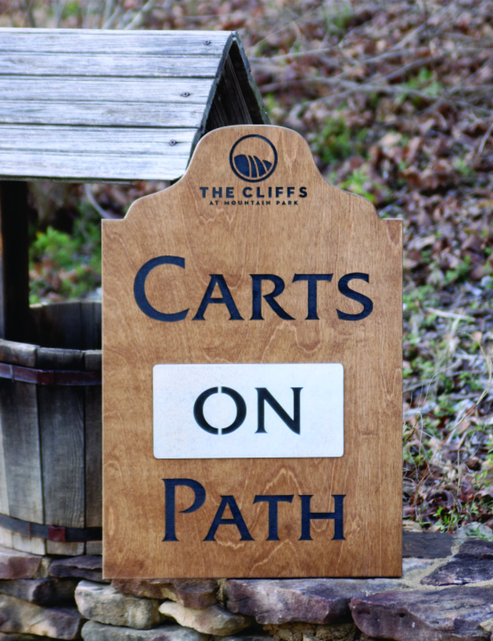 Carts On/Off Path (includes metal reversible plate) - $175