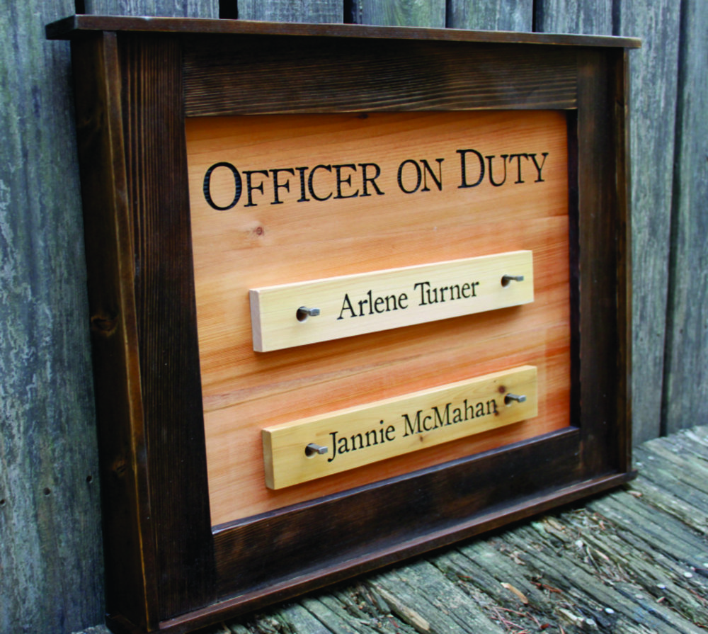 Gatehouse Officer on Duty Frame - $275 :: Name Plates $35