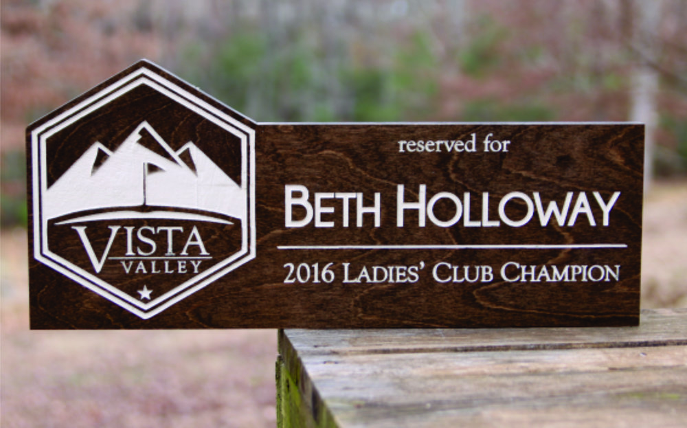 Club Champion Parking Sign - Logo Standout - $155
