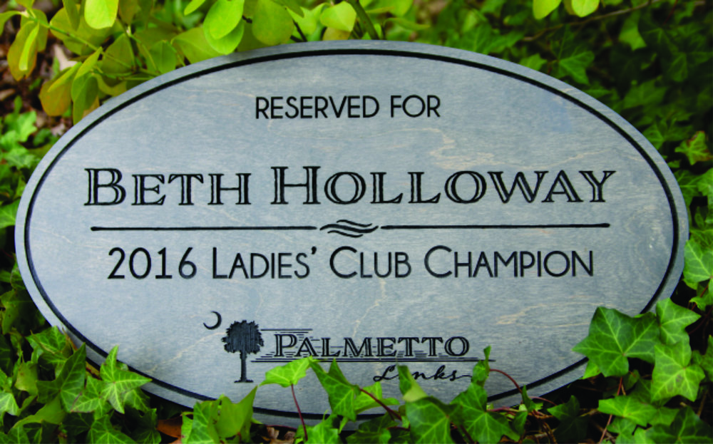 Club Champion Parking Sign - Oval - $145