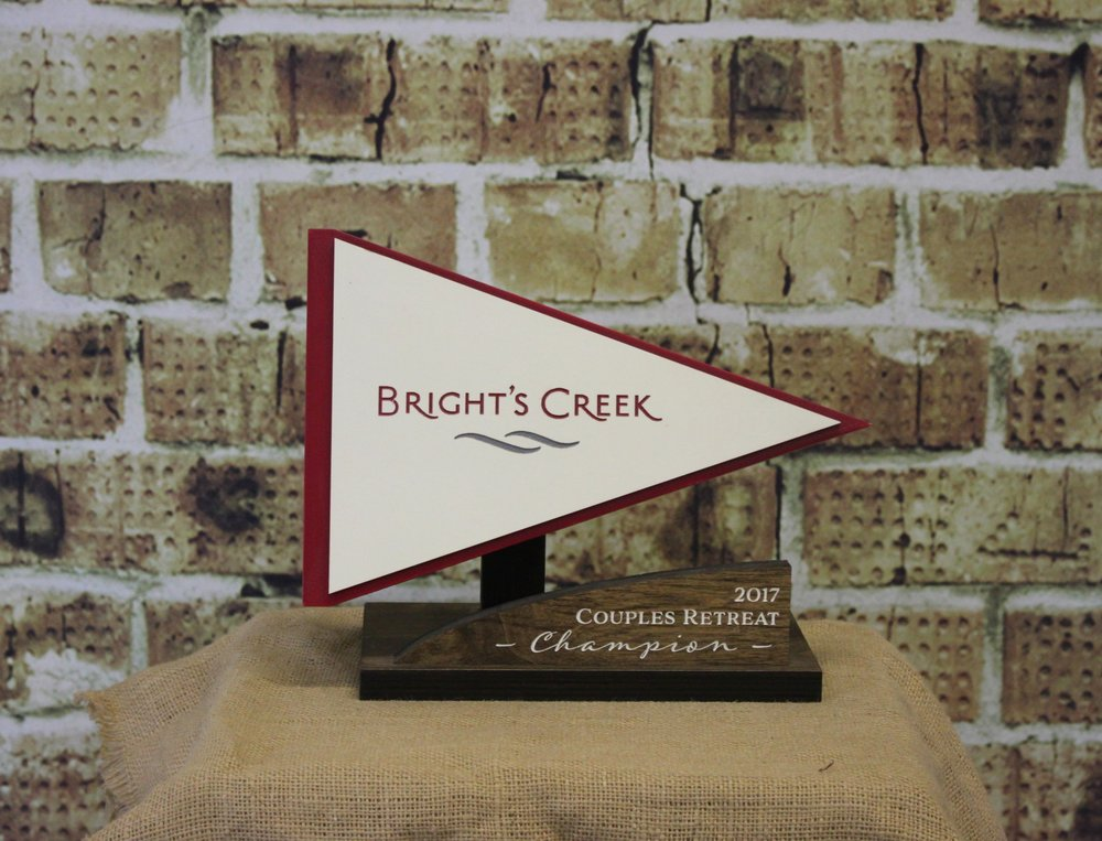 Bright's Creek flag cutout - $75