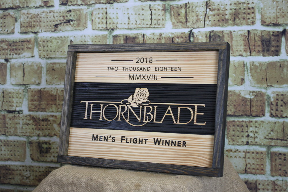 Thornblade Champion $100/90 (+$25 to return frame for personalization)