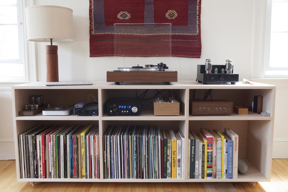 Listening station at K|M|A.