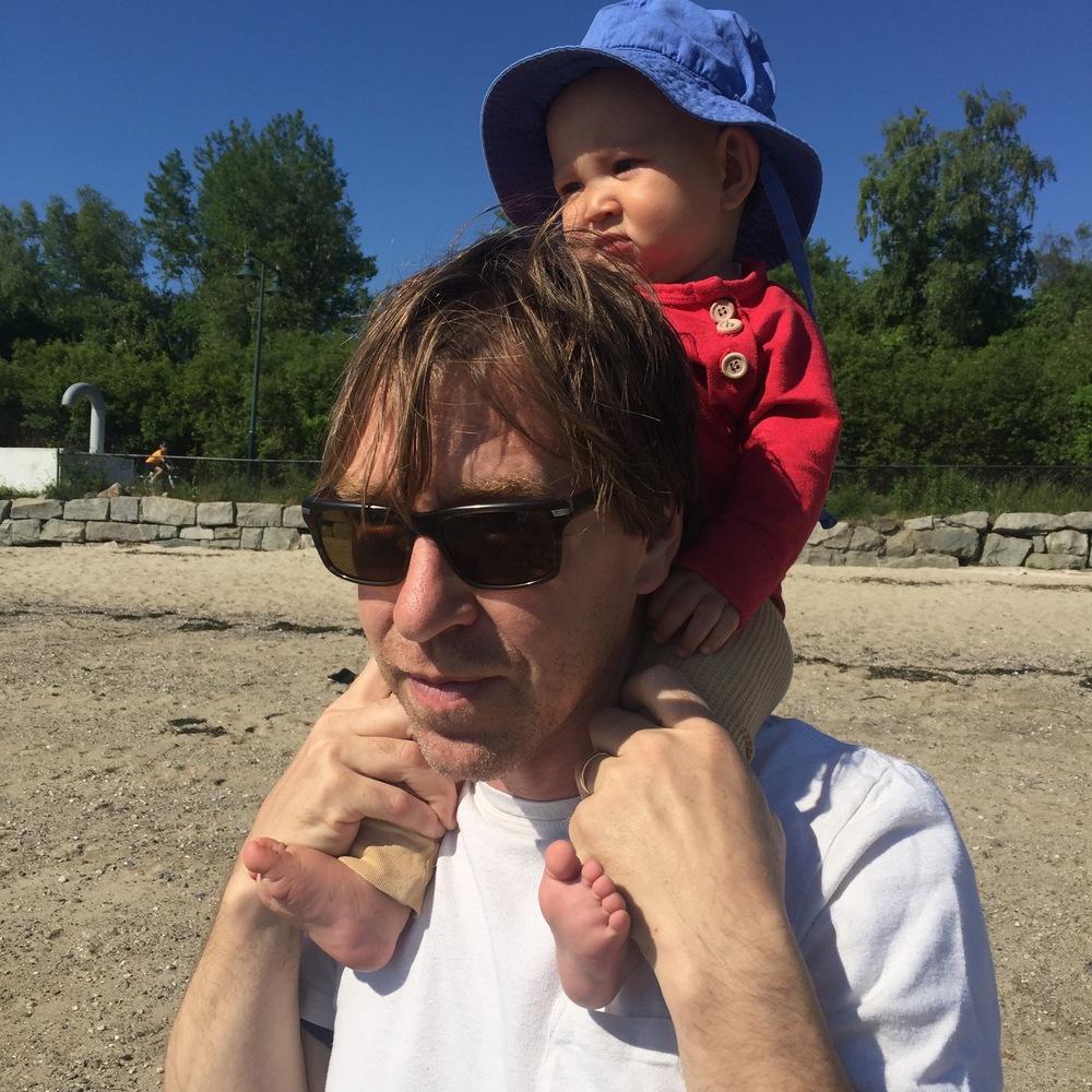 Joe Kievitt and Sidney at East End Beach