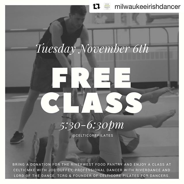 🌟 ATTENTION : MILWAUKEE-BASED DANCERS 🌟 ☘️ Special opportunity to meet & work with with Celticore founder Joe Duffey on Nov 6! ☘️ #Repost @milwaukeeirishdancer with @get_repost ・・・ DANCERS IN MKE ‼️ MIDC is bringing in @duffeyjoe - professional dancer with @riverdance & @lotdofficial and founder of @celticorepilates a FREE workshop at @celticmke on Tuesday November 6th from 5:30-6:30pm! • • • We are using this class to kick off the holiday season and raise donations for @rwfp.mission.life 💕 they are in need of oils (vegetable, olive, etc) and personal higiene items! • • • Get in an AWESOME workshop with an amazing instructor AND help out our Milwaukee community!
