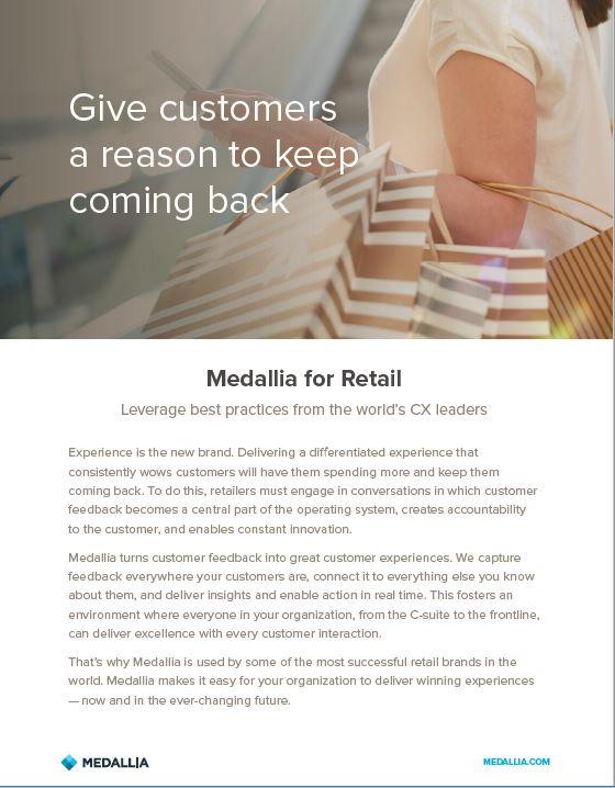 Medallia for retail - English original