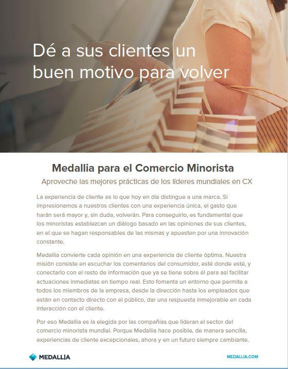 Medallia for retail - Spanish localislation