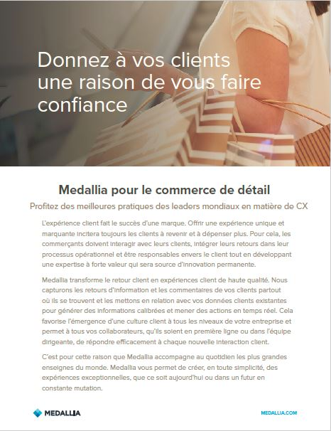 Medallia for retail - French localisation