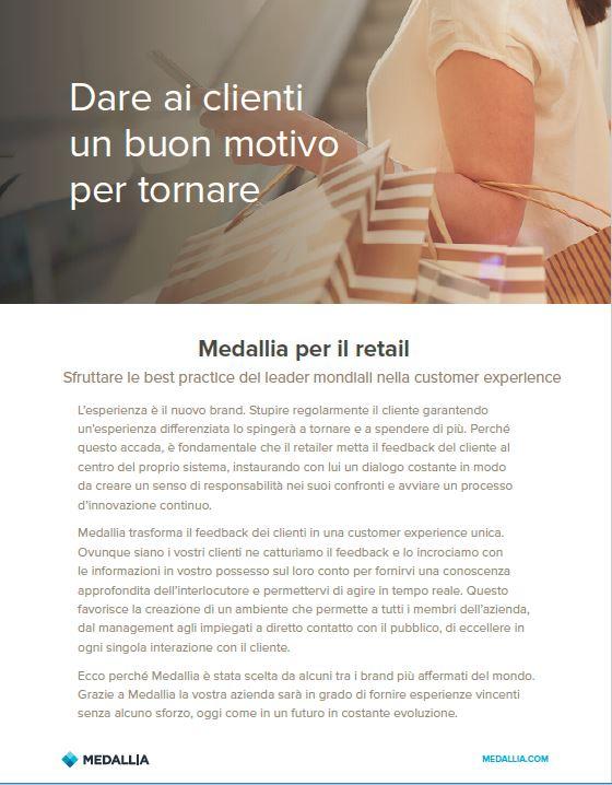 Medallia for retail - Italian localisation