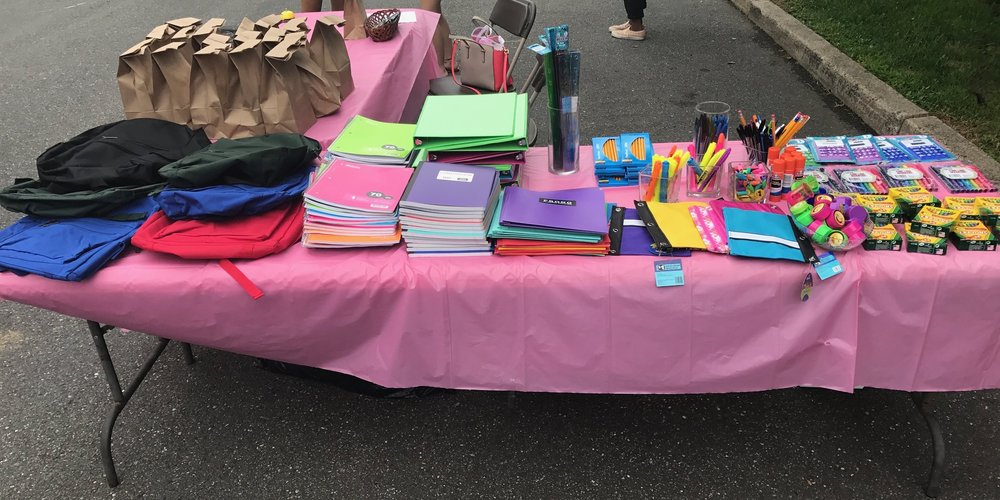 Backpack Fill Up - Children are able to choose a backpack and then fill them with school supplies.