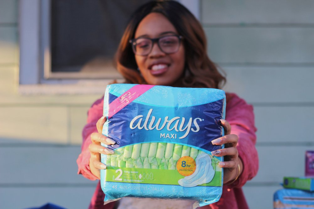 24 Days Giving, Gives Back - 24 Days of Giving is an annual feminine care product drive from March 1st- March 24th. Products collected include pads, tampons, menstrual cups and liners. They are collected and then given to local organizations that have the ability to distribute the products to those in need