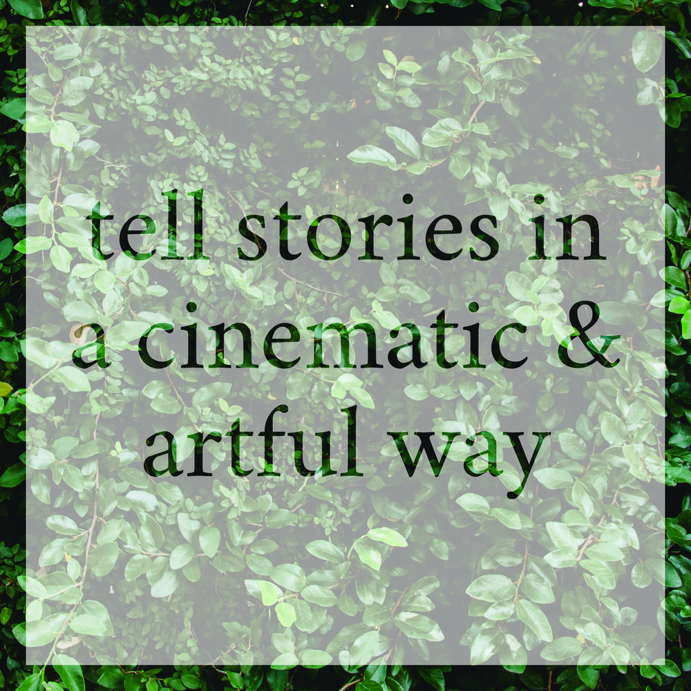 Tell stories in a cinematic and artful way.