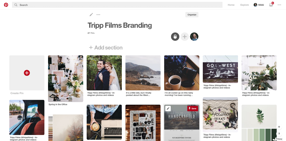 Tripp Films_Branding Photos_Inspiration Board