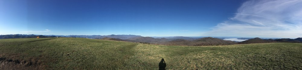 360 degree panoramic views from the top of Max Patch