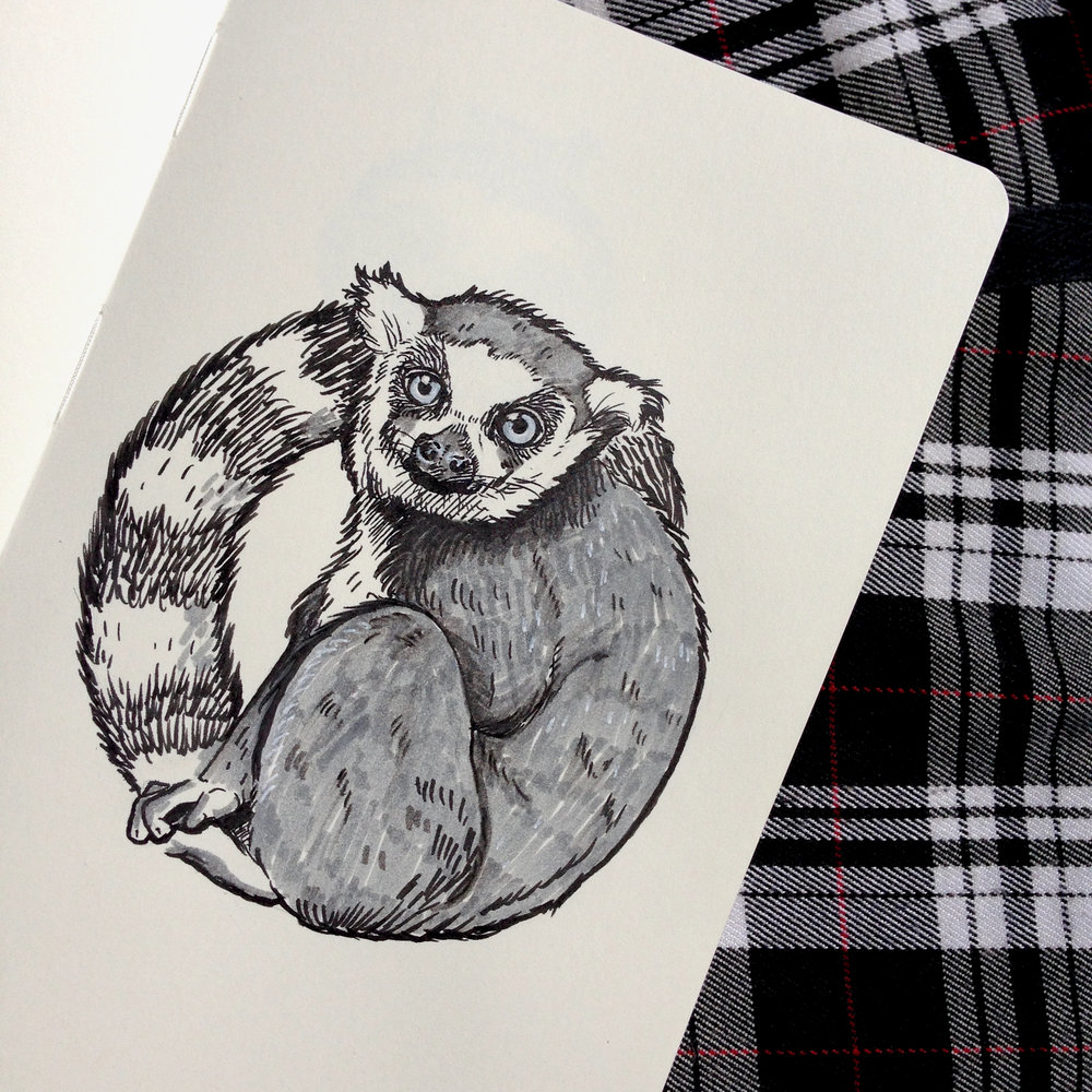 SOLD - Day Sixteen - Lemur