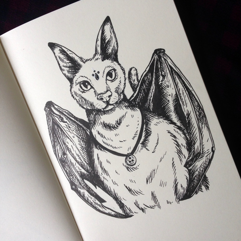 Day Seventeen - Bat-Cat Hybrid