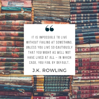JK Rowling quote | 5 Successful Failures to Inspire You | dianemunoz.com