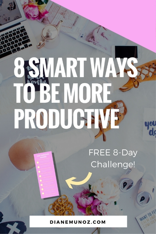 8 Smart Ways to Be More Productive | When you're working hard to get yourself into a great college, you have to be smart about how you use your time or you will burn out. Read on for my best tips to be more productive so you can make the most of each day.