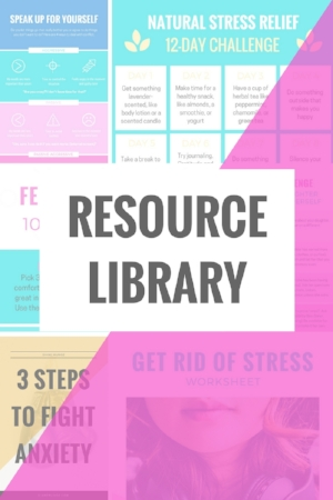 Resource library for teens with anxiety