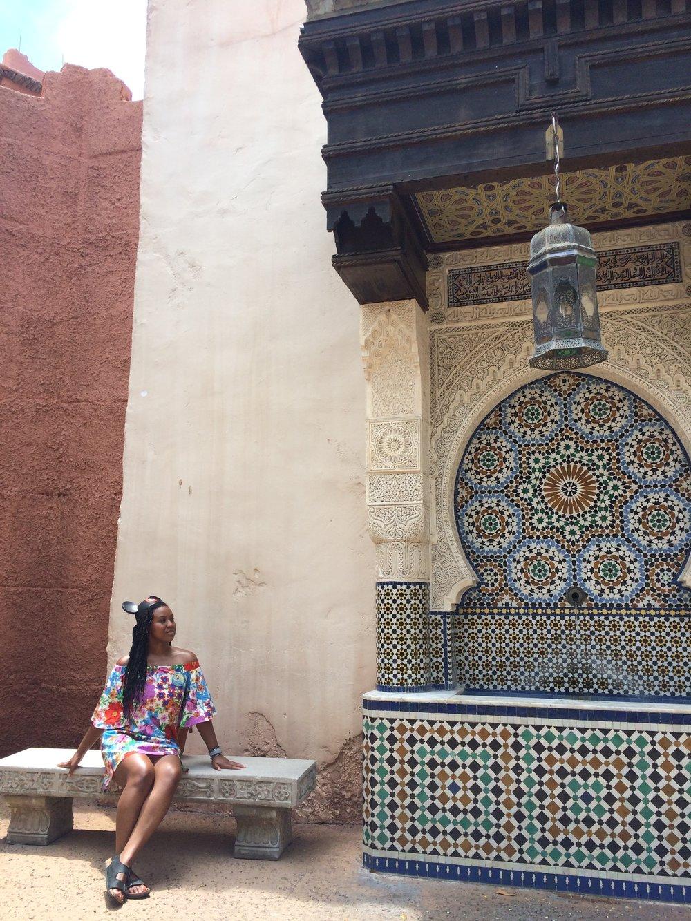 Morocco Epcot, Disney World, Orlando Florida, USA. July 2017.