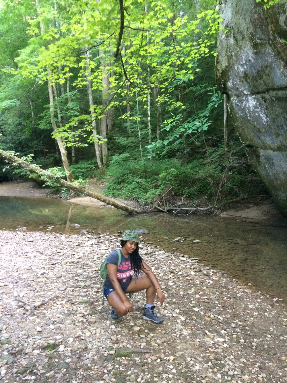 Super chill nature girl on a super chill hike to Mount Chill, Kentucky 2017