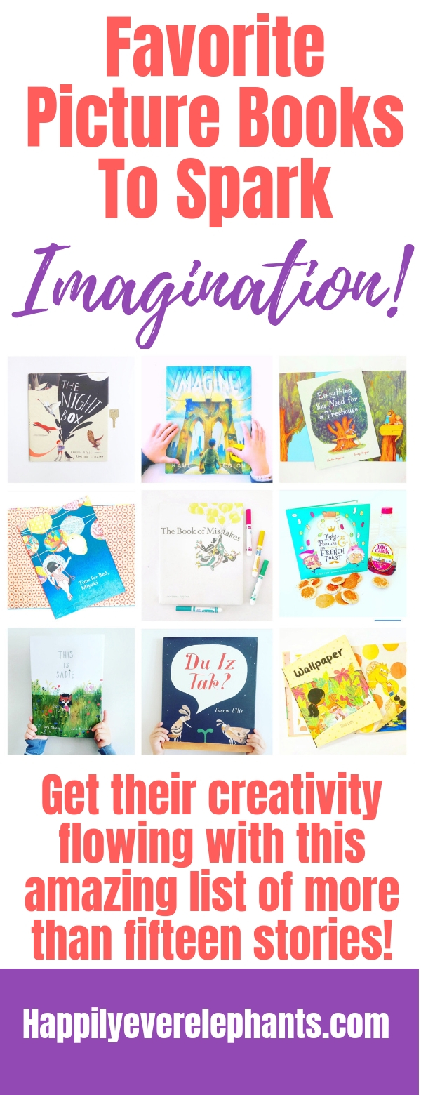 Children's Books About Imagination Guaranteed to Inspire Creativity! Spark your child's imagination with this list of more than fifteen picture books!