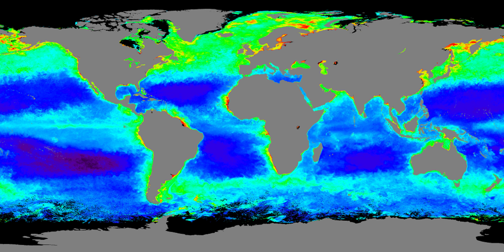 Satellite data such as chlorophyll a can be helpful for managing the oceans and fisheries.
