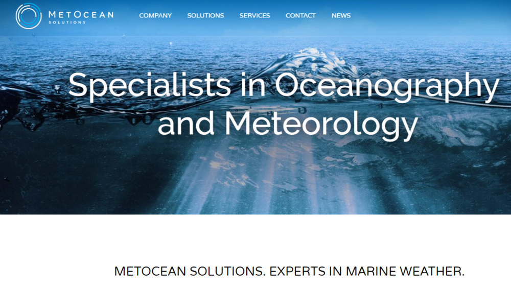The new MetOcean Solutions website