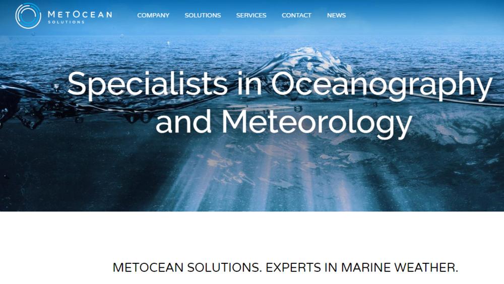 The new MetOcean Solutions website
