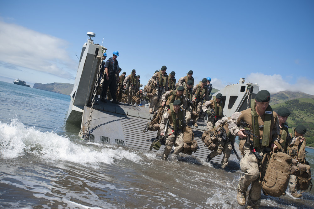 New Zealand Defence Force during training operations.
