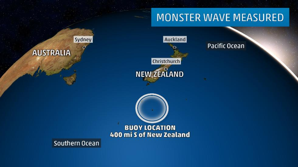 The Weather Channel, 23 May 2017 # Monster 64-Foot Wave Measured by New Buoy in Southern Ocean