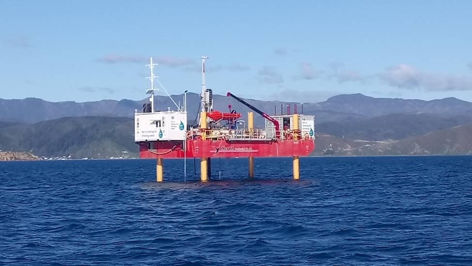A marine drilling rig.