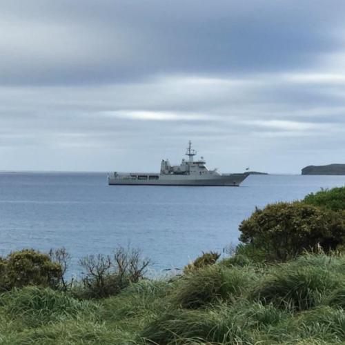 Offshore Patrol Vessel HMNZS WELLINGTON.