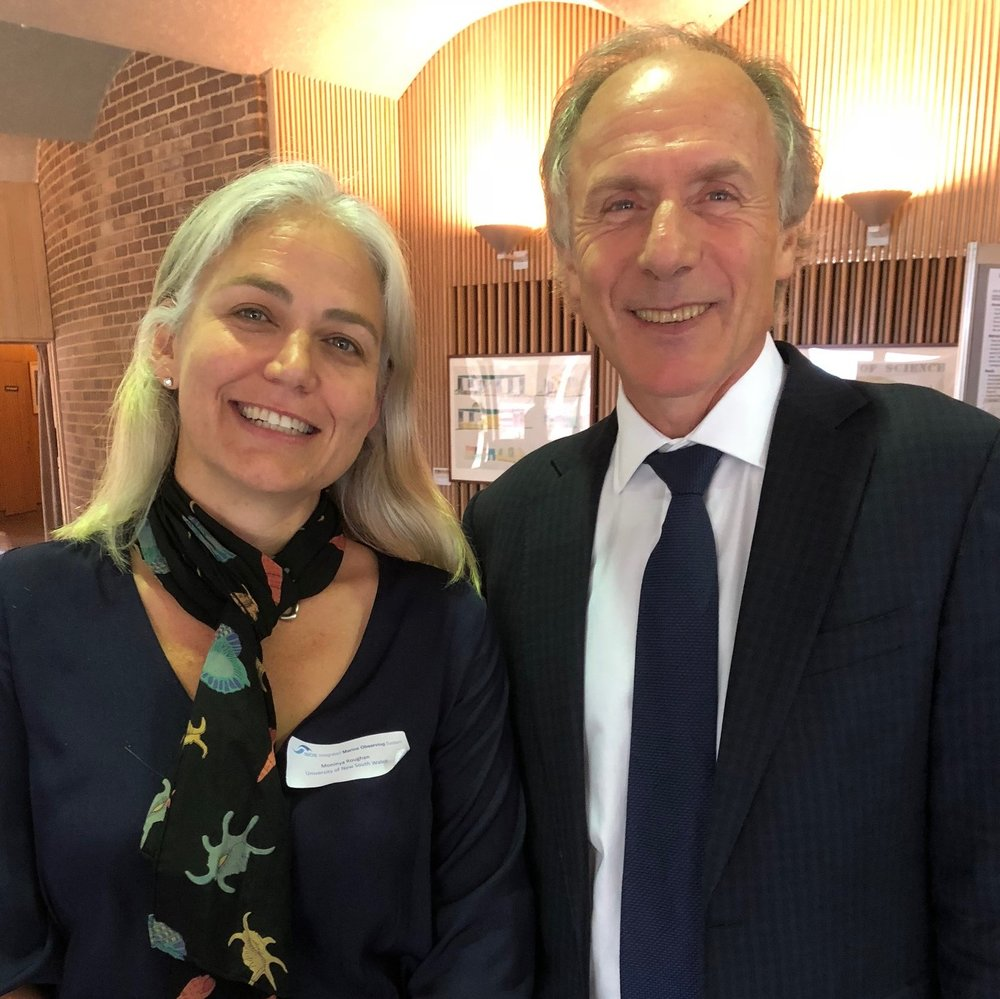 Prof Moninya Roughan, Chief Scientist MetOcean Solutions and Dr Alan Finkel, Australia's Chief Scientist.