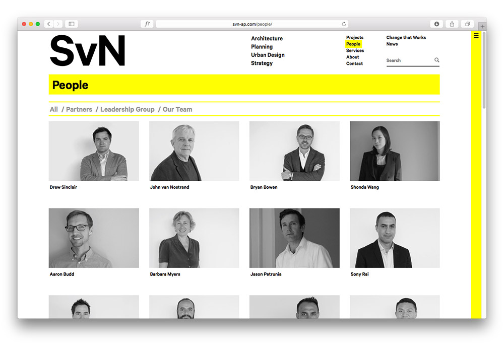 SvN Website Design